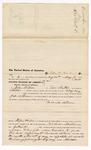 1876 May 20: Voucher, to John B. Peere, of Fort Smith, Arkansas, for assisting John N. Slosson, U.S. deputy marshal, in U.S. v. Richard Nelson; James F. Fagan, U.S. marshal; Stephen Wheeler, clerk