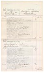 1876 May 29: Voucher, U.S. v. David Beaux and Leander Beaux, introducing spirituous liquors; U.S. v. Henry Frazier and Joseph Hammercod, larceny; U.S. v. Andy Welch, larceny; U.S. v. Jack Waters, larceny; includes cost of court fees