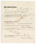 1876 June 5: Voucher, to Howard J. Mayers, for guarding prisoners; J.J. Peirce, jailor; Stephen Wheeler, clerk