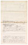 1876 June 09: Voucher, to James Kaue, of Fort Smith, Arkansas, for assisting John T. Cox Jr, U.S. deputy marshal, in U.S. v. John Walker and Andrew J. Colbert, larceny; Stephen Wheeler, clerk