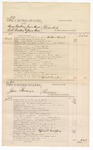 1876 June 6: Voucher, U.S. v. Henry Newberry, James Hays, Robert Braddus, and James Wist, murder; U.S. v. Jesse Harnage, larceny; U.S. v. Dennis McClay, larceny; U.S. v. Cap Hicks, carrying on the business of a retail liquor without paying special tax; includes cost of court fees