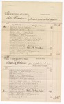 1876 June 6: Voucher, U.S. v. Solol Nicholson, assault with intent to kill; U.S. v. Amanda Johnson, assault with intent to kill; U.S. v. Isham Love, murder in the Indian Country; U.S. v. John H. Dillon, violating internal revenue laws of the United States; includes cost of court fees