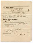 1876 June 7: Voucher, to J.P. Allnutt, for services as bailiff; Stephen Wheeler, clerk