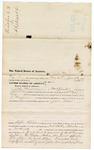 1876 July 19: Voucher, to John Merriman, of Fort Smith, Arkansas, for assisting E. Burgerin, U.S. deputy marshal, in U.S. v. Juba Lewis; Stephen Wheeler, clerk