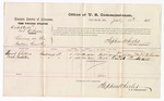 1876 July 10: Voucher, U.S. v. Kiakaktonki and Kihawa, larceny in the Indian Country; includes cost of per diem and mileage; Daniel Childers and Enrch Pendleton, witnesses; Stephen Wheeler, commissioner