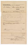 1876 August 15: Voucher, U.S. v. William A. Britton; includes cost of subpoenaed witness, E.A. Kline; W.F. Rapley, U.S. deputy marshal; Stephen Wheeler, clerk