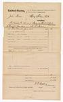 1876 June 28: Voucher, U.S. v. John Ryan, sentenced to serve a term in the U.S. jail; served by W.F. Rapley, U.S. deputy marshal