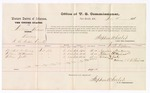 1876 July 11: Voucher, U.S. v. William Thomas, larceny in the Indian Country; includes cost of per diem and mileage; Marshall Montgomery, William M. Namara, and William Jester, witnesses; Stephen Wheeler, commissioner