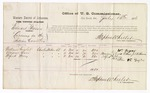 1876 July 15: Voucher, U.S. v. Edward Giveus, larceny; includes cost of per diem and mileage; William Taylor, Monroe Carr, and Alfred Perry, witnesses; Stephen Wheeler, commissioner
