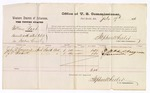 1876 July 17: Voucher, U.S. v. William Roah, assault with intent to kill in Indian Country: includes cost of per diem and mileage; John R. Casgrove and J.E. Bernett, witnesses; Stephen Wheeler, commissioner