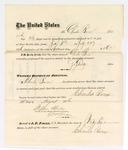1876 August 10: Voucher, to Charles Burns, for guarding prisoners confined in the U.S. jail at Fort Smith, Arkansas; Stephen Wheeler, clerk