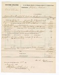 1876 November 21: Voucher, U.S. v. Chrib Bhurton, assault with intent to kill; includes cost of mileage, travel expenses, feeding one prisoner, and transportation; J.W. Brown, subpoenaed witness; served by W.R. Ayers, U.S. deputy marshal; Stephen Wheeler, clerk and commissioner