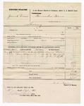 1876 September 27: Voucher, U.S. v. Josiah Vann, larceny; includes cost of mileage; Aaron Bacon, W.J. Thermill, and John J. Little, subpoenaed witnesses; W.R. Ayers, U.S. deputy marshal; Stephen Wheeler, clerk