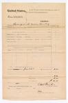 1876 June 22: Voucher, U.S. v. Emmett Tubbee, larceny; U.S. Fowler, U.S. deputy marshal