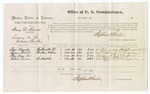Voucher, U.S. v. Henry D. Norris, larceny in the Indian Country; includes cost of per diem and mileage; Elias Mundy, Squire Riddle, Cha-Kum-Lu, and Robert Lewis, subpoenaed witnesses; Stephen Wheeler, commissioner