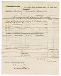 1876 November 13: Voucher, U.S. v. Andrew Barker, larceny; served by C.C. Ayers, U.S. deputy marshal