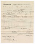 1876 October 2: Voucher, U.S. v. W.W. Taylor, larceny in Indian Country; includes cost of mileage, feeding one prisoner, and travel expenses; Jordan O. Flack, posse comitatus; served by J.W. Searle, U.S. deputy marshal; Stephen Wheeler, clerk