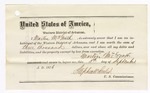 1876 September 15: Bond for defendant, U.S. v. James Ussery, larceny in the Indian Country; Martin McGrath, Phillip Ussery, Margaret Moretz, and Sonny Grayson, sureties with notes of surety attached; James C. Williamson, Wiley McGuilliam, John M. Smith, and James K. Barnes, witness of signatures; Stephen Wheeler, commissioner