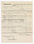 1876 October 22: Voucher, U.S. v. Joseph Colbert and One Henry, larceny in the Indian Country; includes cost of mileage, travel expenses, and feeding two prisoners; Bass Reeves, posse comitatus; James Colbert and Lily Colbert, subpoenaed witnesses; served by Walter Johnson, U.S. deputy marshal; Stephen Wheeler, commissioner
