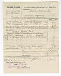 1876 October 28: Voucher, U.S. v. John Butler and Jim Bloodson, larceny; includes cost of mileage, travel expenses, and feeding one prisoner; Jordon Flack, guard; served by J.W. Searle, U.S. deputy marshal; Stephen Wheeler, commissioner