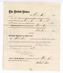 1876 January 19: Voucher, to Albert Neis, for his services of guarding prisoners in the U.S. jail; G.S. Peirce, jailor; Stephen Wheeler, clerk; J.F. Fagan, U.S. Marshal