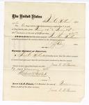 1876 January 29: Voucher, to James C. Wilkinson, for his services guarding prisoners in the U.S. jail; G.S. Peirce, jailor; Stephen Wheeler, clerk; J.F. Fagan, U.S. Marshal