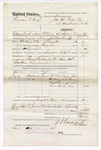1876 May 06: Voucher, U.S. v. Benjamin F. Brady, assault with intent to kill; includes cost of travel expenses, mileage, and feeding one prisoner; W.T. Van Doreu, John Anderson, E.F. Weir, George W. Cummings, and Sam M. Curtain, subpoenaed witnesses; Toney Gallagher and Lewis Carnett, posse comitatus; served by J.S. Vandegriff, U.S. deputy marshal; Stephen Wheeler, clerk; John M. Peck, commissioner