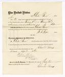 1876 April 24: Voucher, to Charles Burns, for service guarding prisoners in U.S. jail; G.S. Peirce, jailor; Stephen Wheeler, clerk; J.F. Fagan, U.S. marshal