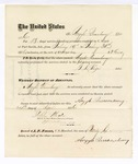 1876 April 24: Voucher, to Argyle Queenbury, for service guarding prisoners in U.S. jail; G.S. Peirce, jailor; Stephen Wheeler, clerk; J.F. Fagan, U.S. marshal
