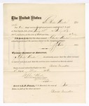 1876 May 1: Voucher, to Charles Munder, for service guarding prisoners in U.S. jail; G.S. Peirce, jailor; Stephen Wheeler, clerk; J.F. Fagan, U.S. marshal