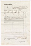 1876 March 27: Voucher, U.S. v. Han Keys, violation of internal revenue laws; includes cost of travel expenses, mileage, and feeding one prisoner; Toney Gallagher and Lewis Carnett, posse comitatus; served by J.S. Vandegriff, U.S. deputy marshal; Stephen Wheeler, clerk; John M. Peck, commissioner