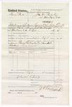 1876 February 08: Voucher, U.S. v. Thomas Park, introducing spirituous liquor; includes cost of feeding one prisoner; Toney Gallagher and Lewis Carnett, posse comitatus; served by J.S. Vandegriff, U.S. deputy marshal; John M. Peck, commissioner