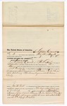 1876 May 08: Voucher, to Lewis Carnett, of Fort Smith, Arkansas, for assisting J.S. Vandegriff, U.S. deputy marshal, in U.S. v. Thomas Parks, introducing spirituous liquor; John W. Peck, commissioner; Stephen Wheeler, clerk