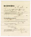 1876 April 12: Voucher, to Harry M. Potter, for service guarding prisoners in U.S. jail; G.S. Peirce, jailor; Stephen Wheeler, clerk; J.F. Fagan, U.S. marshal