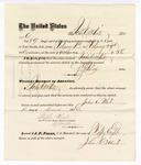 1876 March 13: Voucher, to John C. White, for service guarding prisoners in U.S. jail; G.S. Peirce, jailor; Stephen Wheeler, clerk; J.F. Fagan, U.S. marshal