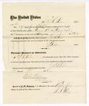 1876 April 24: Voucher, to G.S. Peirce, for service as jailor in U.S. jail; Stephen Wheeler, clerk; J.F. Fagan, U.S. marshal