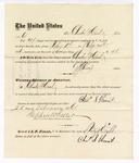 1876 February 25: Voucher, to Charles S. Heunt, for service guarding prisoners in U.S. jail; G.S. Peirce, jailor; Stephen Wheeler, clerk; J.F. Fagan, U.S. marshal
