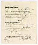 1876 April 24: Voucher, to George Thornton, for service guarding prisoners in U.S. jail; G.S. Peirce, jailor; W.D. Allnutt, witness; Stephen Wheeler, clerk; J.F. Fagan, U.S. marshal