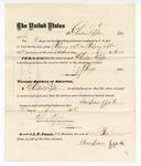 1876 April 25: Voucher, to Christian Epple, for service guarding prisoners in U.S. jail; G.S. Peirce, jailor; Stephen Wheeler, clerk; J.F. Fagan, U.S. marshal