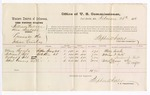 1876 February 26: Voucher, U.S. v. William Wallace (alias Suckshi), larceny in the Indian Country; includes cost of per diem and mileage; Mary Sorrels, William F. Belt, Andrew J. Belt, and Robert Ganny, witness; Stephen Wheeler, commissioner