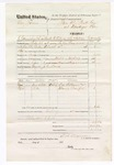 1876 March 27: Voucher, U.S. v. One James, assault with intent to kill; includes cost of travel expenses, mileage, feeding one prisoner, and one guard; J.C. Davis, guard; served by T.A. Teryman, U.S. deputy marshal; One William and Marion Crawford, subpoenaed witnesses; John M. Peck, commissioner