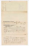 1876 June 09: Voucher, to H.P. Quarkes, of Fayetteville, Arkansas, for assisting James H. Cooper, U.S. deputy marshal, in U.S. v. Milton Drake, Ed Black, and John Aimsworth, larceny; E.B. Harrison, commissioner;
