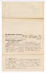 1876 April 21: Voucher, to Frank Kereus, of Fort Smith, Arkansas, for assisting E. Burgoni, U.S. deputy marshal, in U.S. v. Eva Hall, larceny; Stephen Wheeler, commissioner