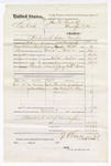 1876 March 25: Voucher, U.S. v. Liby Coff, murder; includes cost of travel expenses, mileage, feeding one prisoner, and two guards; Joseph Young and William Brady, guards; Frank Crawford, Samuel Love, William Jones, and Polly Williams, subpoenaed witnesses; served by J.S. Vandegriff, U.S. deputy marshal; John M. Peck, commissioner