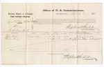 1876 March 3: Voucher, U.S. v. Henry Hall (alias Era Hall and Era McKenney), larceny; includes cost of per diem and mileage; John Taylor and Phoeby Brown, witnesses; James F. Fagan, U.S. marshal; Stephen Wheeler, commissioner
