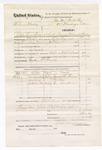 1876 March 27: Voucher, U.S. v. Solemon Mackey, retail liquor dealer without paying special tax; includes cost of travel expenses, feeding one prisoner, and one guard; William Boone, guard; Green Gardner and Ben Smallwood, subpoenaed witnesses; served by T.A. Teryman, U.S. deputy marshal; John M. Peck, commissioner