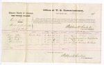1876 March 8: Voucher, U.S. v. Charles Morton, introducing spirituous liquor; includes cost of per diem and mileage; Areann McCoy, Mary Williams, Burr Denton, and Thomas Tidwell, witnesses; Stephen Wheeler, commissioner