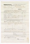 1876 March 31: Voucher, U.S. v. Samuel Bennett, larceny; includes cost of travel expenses, feeding one prisoner, and one guard; Jack Stevens, guard; Wiley Dozier, Wiley Malone, and John Teriner, subpoenaed witnesses; served by T.A. Teryman, U.S. deputy marshal; John M. Peck, commissioner
