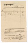 1876 March 28: Voucher, to B. Baer, includes cost of coal oil, lime, and soap; Stephen Wheeler, clerk