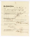 1876 April 15: Voucher, to D.M. Kavanaugh, for service guarding prisoners at U.S. jail; G.S. Peirce, jailor; Stephen Wheeler, clerk